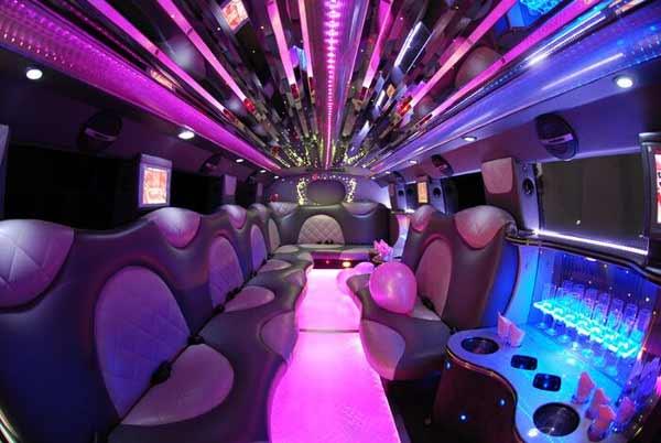 Cadillac Escalade Palmetto limo interior