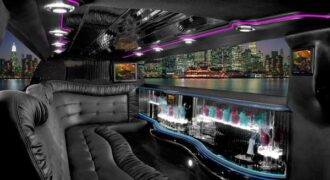 Chrysler 300 Clearwater limo interior