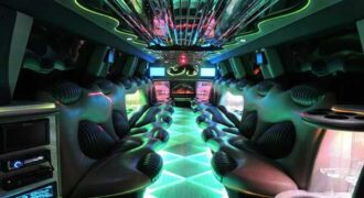 Hummer limo Clearwater interior