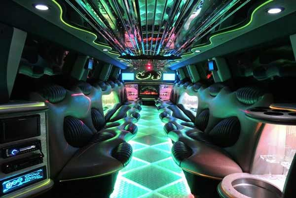 Hummer limo Plant City interior
