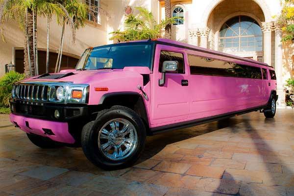 pink hummer limo Brandon